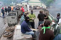 fecha: 18-06-2012 En el pozo Carrio, Barredos, en Pola de la Viana, los mineros toman el pozo durante la huelga general en las comarcas mineras, cortaron el corredor del Nalon. Foto: Pedro Agrelo