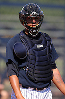 New York Yankees minor league catcher Gary Sanchez (51) vs. the Pittsburgh Pirates in an Instructional League game at the New York Yankees Minor League Complex in Tampa, Florida;  October 8, 2010.  Photo By Mike Janes/Four Seam Images