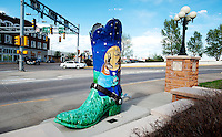 A sculpture of a large cowboy boot stands on display in downtown Cheyenne, Wyoming, Thursday, June 2, 2011.  The boots are seen throughout the city of Cheyenne...Photo by Matt Nager