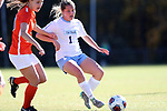 CARY, NC - NOVEMBER 19: North Carolina's Madison Schultz (1). The University of North Carolina Tar Heels hosted the Princeton University Tigers on November 19, 2017 at Koka Booth Stadium in Cary, NC in an NCAA Division I Women's Soccer Tournament Third Round game. Princeton won 2-1 in sudden death overtime.