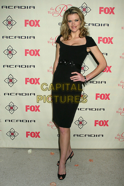 "MISSI PYLE.""Wedding Bells"" Series Premiere Launch Party at the Wilshire Ebell Theatre, Los Angeles, California, USA,.9 March 2007..full length black dress hand on hip.CAP/ADM/BP.©Byron Purvis/AdMedia/Capital Pictures."