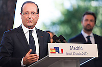 François Hollande at the french Residence - Madrid