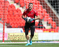 Fleetwood Town's Matthew Gilks during the pre-match warm-up <br /> Photographer David Shipman/CameraSport<br /> <br /> The EFL Sky Bet League One - Doncaster Rovers v Fleetwood Town - Saturday 17th August 2019  - Keepmoat Stadium - Doncaster<br /> <br /> World Copyright © 2019 CameraSport. All rights reserved. 43 Linden Ave. Countesthorpe. Leicester. England. LE8 5PG - Tel: +44 (0) 116 277 4147 - admin@camerasport.com - www.camerasport.com