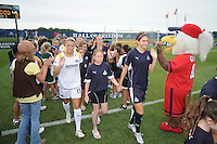 Pregame tunnel. Players entering the field. The LA Sol defeated the Washington Freedom 1-0 at the Maryland Soccerplex, Sunday July 5, 2009.