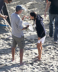 October 28th 2011 ...Courteney Cox filming the tv show Cougar Town in Malibu California. Co-stars  Busy Philipps , Dan Byrd & Brian Van Holt were also on set. They added Sarah Chalke to a scene having a romantic beach date. Sarah was wearing a bikini under her dress & showing off her long legs. Courteney Cox was also wearing a bikini under her see through white shirt & eating lunch in between filming . ...AbilityFilms@yahoo.com.805-427-3519.www.AbilityFilms.com..