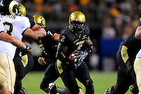 31 Aug 2008: Colorado running back Darrell Scott (2) carries the ball against Colorado State. The Colorado Buffaloes defeated the Colorado State Rams 38-17 at Invesco Field at Mile High in Denver, Colorado.. FOR EDITORIAL USE ONLY