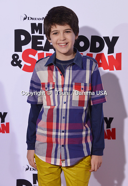 Joshua Rush  arriving at the Mr Peabody & Sherman Premiere at the Regency Village Theatre In Westwood, Los Angeles.