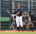 Gosuke Kato (Yankees), JUNE 21, 2013 - MLB : Gosuke Katoh of the Yankees hits a homerun during the Gulf Coast League game between the Gulf Coast League Yankees1 and the Gulf Coast League Pirates at Yankee Complex in Tampa, Florida, United States. (Photo by AFLO)
