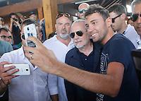 Aurelio De Laurentis <br /> ritiro precampionato Napoli Calcio a  Dimaro 11 Luglio 2015<br /> <br /> Preseason summer training of Italy soccer team  SSC Napoli  in Dimaro Italy July 11, 2015