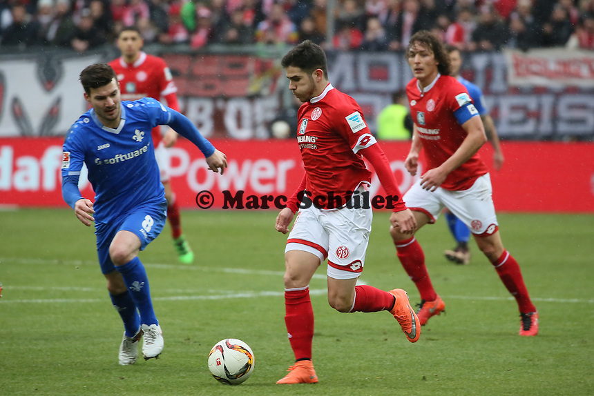 Jairo Samperio (Mainz) gegen Jerome Gondorf (Darmstadt) - 1. FSV Mainz 05 vs. SV Darmstadt 98, Coface Arena