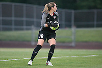 Piscataway, NJ - Saturday July 23, 2016: Kelsey Wys during a regular season National Women's Soccer League (NWSL) match between Sky Blue FC and the Washington Spirit at Yurcak Field.