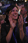 A young female delegate at the Democratic National Convention at the Pepsi Center in Denver, Colorado on August 25, 2008.