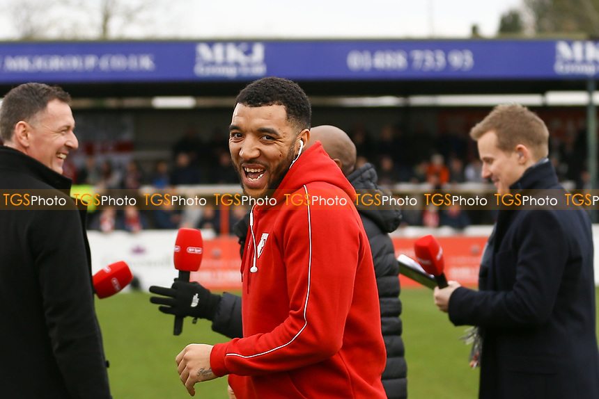 Troy Deeney of Watford during Woking vs Watford, Emirates FA Cup Football at The Laithwaite Community Stadium on 6th January 2019