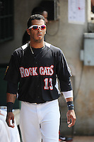 New Britain Rock Cats infielder Eddie Rosario (13) during game against the Reading Fightin Phils  at New Britain Stadium on July 13, 2014 in New Britain, CT. Reading defeated New Britain 6-4.  (Tomasso DeRosa/Four Seam Images)