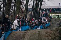 race leader VAN DER POEL Mathieu (NED/Corendon-Circus) coming down the dirt jump section<br /> <br /> GP Sven Nys (BEL) 2019<br /> DVV Trofee<br /> &copy;kramon