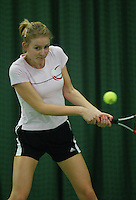 10-3-06, Netherlands, tennis, Rotterdam, National indoor junior tennis championchips, Fleur Goedkoop