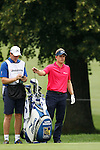 Luke Donald (ENG) on the 17th on day 1 of the World Golf Championship Bridgestone Invitational, from Firestone Country Club, Akron, Ohio. 4/8/11.Picture Fran Caffrey www.golffile.ie