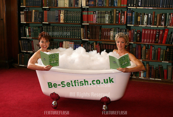 Author Kathy Lette launches her new waterproof book 'All Steamed Up' alongside Nell McAndrew, written to support the Radox 'Be Selfish' campaign, at The London Library, London. 07/09/2009. Picture by: Alexandra Glen / Featureflash