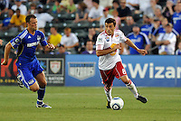 Sinisa Ubiparipovic #8, Jack Jewsbury...Kansas City Wizards were defeated 3-0 by New York Red Bulls at Community America Ballpark, Kansas City, Kansas.