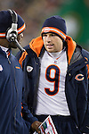 Chicago Bears kicker Robbie Gould (9) talks to Head Coach Lovie Smith during a week 16 NFL football game against the Green Bay Packers on December 25, 2011 in Green Bay, Wisconsin. The Packers won 35-21. (AP Photo/David Stluka)