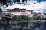 The Potala, winter palace of the Dalai Lama since the 7th century A.D in Lhasa, Tibet