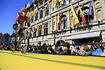 Lotto-Soudal team on stage at sign on before the 101st edition of the Tour of Flanders 2017 running 261km from Antwerp to Oudenaarde, Flanders, Belgium. 26th March 2017.<br /> Picture: Eoin Clarke | Cyclefile<br /> <br /> <br /> All photos usage must carry mandatory copyright credit (&copy; Cyclefile | Eoin Clarke)
