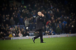 Home manager Sean Dyche walking across the pitch after half-time as Burnley hosted Everton in an English Premier League fixture at Turf Moor. Founded in 1882, Burnley played their first match at the ground on 17 February 1883 and it has been their home ever since. The visitors won the match 5-1, watched by a crowd of 21,484.