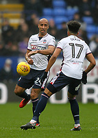 Bolton Wanderers' Karl Henry defends with assistance from team mate Derik Osede <br /> <br /> Photographer Andrew Kearns/CameraSport<br /> <br /> The EFL Sky Bet Championship - Bolton Wanderers v Fulham - Saturday 10th February 2018 - Macron Stadium - Bolton<br /> <br /> World Copyright &copy; 2018 CameraSport. All rights reserved. 43 Linden Ave. Countesthorpe. Leicester. England. LE8 5PG - Tel: +44 (0) 116 277 4147 - admin@camerasport.com - www.camerasport.com
