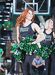 North Texas Mean Green cheerleaders in action during the game between the New Orleans Privateers and the University of North Texas Mean Green at the North Texas Coliseum,the Super Pit, in Denton, Texas. UNT defeated UNO 78 to 47.....