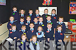 INFANTS: Junior infants from Ardfert National School who started school on Tuesday. Front l-r: Daisy Nowak, Sadbh Lowth. Seated l-r: Oisi?n Dowling, Keira Lyne, Colin Kenny, Maggie Forth, Jack Trant and Ada Perry. 3rd Row l-r: Ria Oiregan, Fiona?n Egan, Rachel O Sullivan Gavin O'Flaherty, Heather Walshe,Do?nal O'Sullivan and Keith O'Mahony. Back row l-r: Saidhbh Morrison, Fiacura O'Connor, Carol Foley, Adam Rena and Shonagh McGiff Maguire and Michael Kelly.... ....