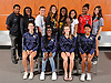 The Newsday All-Long Island girls track and field team gathers for a group picture at company headquarters on Wednesday, June 14, 2017. Appearing are, FRONT ROW, FROM LEFT: Dana Beggins of West Babylon, Brittany Korsah of West Babylon, Hannah Keller of West Babylon and Nadja Ashley of West Babylon.  BACK ROW, FROM LEFT: Coach Oliver St. Aude of St. Anthony's, Sade Meeks of North Babylon, Brittany Curtin of Connetquot, Lauren Harris of Sachem East, Halle Hazzard of St. Anthony's, Katherine Lee of Shoreham-Wading River, Chibugo Obichere of Valley Stream South and Sarena Choi of Westhampton.