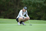 Emilia Migliaccio of the Wake Forest Demon Deacons waits for her turn to putt on the fourth green during second round action at the Ruth's Chris Tar Heel Invitational on October 14, 2017 in Chapel Hill, North Carolina. (Brian Westerholt/Sports On Film)
