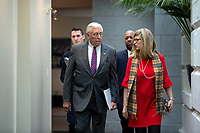United States House Majority Leader Steny Hoyer (Democrat of Maryland) arrives to the weekly Democratic caucus meeting at the United States Capitol in Washington D.C., U.S. on Tuesday, February 11, 2020.  <br /> <br /> Credit: Stefani Reynolds / CNP/AdMedia