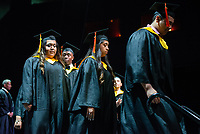 Cristo Rey Jesuit class of 2019 participate in their commencement ceremony on June 1, 2019 at the Revention Music Center in Houston, Texas.