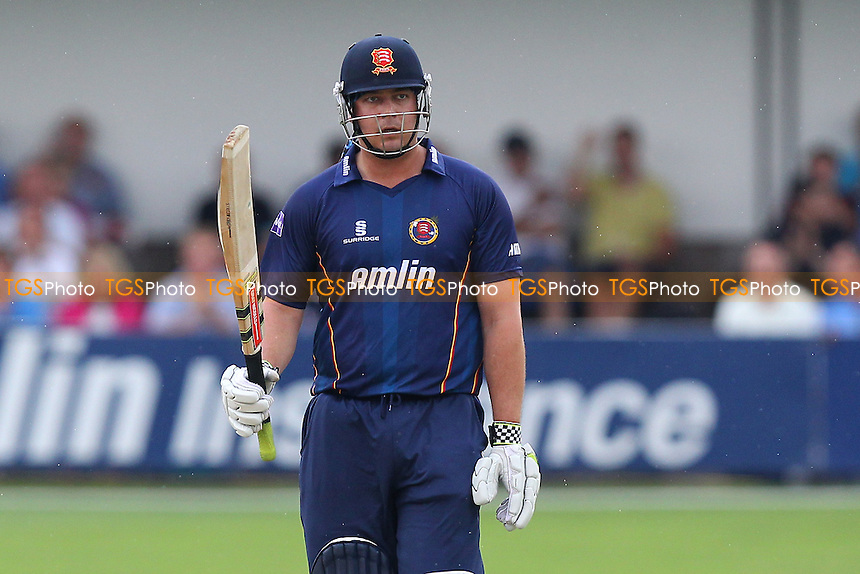 Jesse Ryder of Essex celebrates his half-century - Essex Eagles vs Sussex Sharks - NatWest T20 Blast Cricket at the Essex County Ground, Chelmsford, Essex - 25/07/14 - MANDATORY CREDIT: Gavin Ellis/TGSPHOTO - Self billing applies where appropriate - contact@tgsphoto.co.uk - NO UNPAID USE