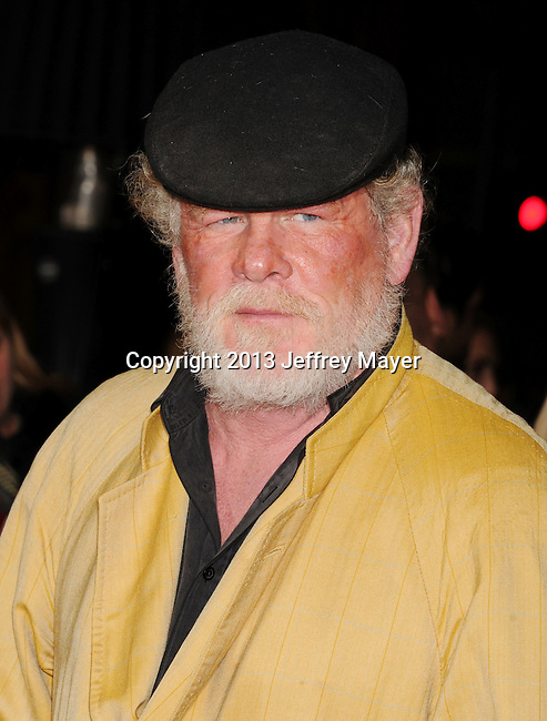 HOLLYWOOD, CA - JANUARY 07: Nick Nolte arrives at the 'Gangster Squad' - Los Angeles Premiere at Grauman's Chinese Theatre on January 7, 2013 in Hollywood, California.