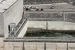 The output of water that generates hydro power electricity to the city of Branson below the Table Rock Dam Missouri