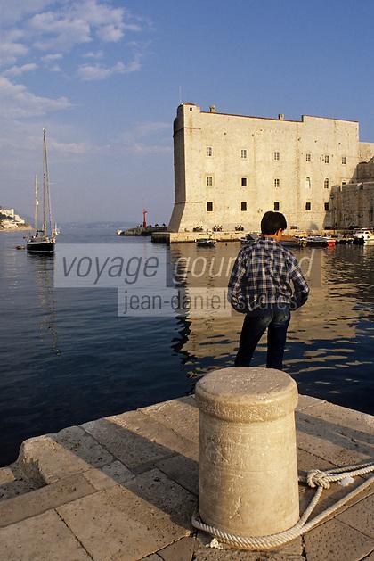 Croatie/Dalmatie/Dubrovnik: Le port