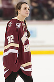 Gabriella Switaj (BC - 32) - The Boston College Eagles defeated the visiting University of Connecticut Huskies 3-2 on Saturday, January 24, 2015, at Kelley Rink in Conte Forum in Chestnut Hill, Massachusetts.