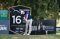 Grant Forrest (SCO) in action on the 16th hole during the second round of the 76 Open D'Italia, Olgiata Golf Club, Rome, Rome, Italy. 11/10/19.<br /> Picture Stefano Di Maria / Golffile.ie<br /> <br /> All photo usage must carry mandatory copyright credit (© Golffile | Stefano Di Maria)