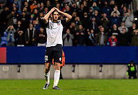 Bolton Wanderers' Jordan Boon reacts to missing a penalty during the shoot out<br /> <br /> Photographer Andrew Kearns/CameraSport<br /> <br /> EFL Leasing.com Trophy - Northern Section - Group F - Bolton Wanderers v Bradford City -  Tuesday 3rd September 2019 - University of Bolton Stadium - Bolton<br />  <br /> World Copyright © 2018 CameraSport. All rights reserved. 43 Linden Ave. Countesthorpe. Leicester. England. LE8 5PG - Tel: +44 (0) 116 277 4147 - admin@camerasport.com - www.camerasport.com