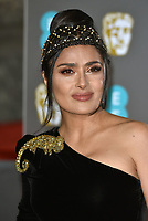 Salma Hayek<br /> The EE British Academy Film Awards 2019 held at The Royal Albert Hall, London, England, UK on February 10, 2019.<br /> CAP/PL<br /> ©Phil Loftus/Capital Pictures