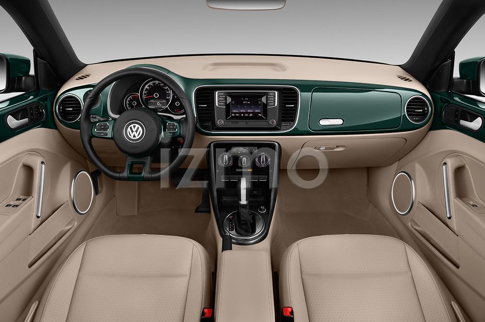 Stock photo of straight dashboard view of 2017 Volkswagen Beetle 1.8T-Dune-Conv.-auto 2 Door Convertible Dashboard