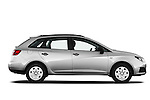 Passenger side profile view of 2010 Seat Ibiza ST 5 Door Wagon Stock Photo
