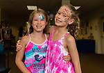 TORRINGTON, CT. 25 August 2018-082518 - From left, Charlize, 8, and Luciana Calcagno, 10, of Canton enjoy themselves during the Family Arts day at the Warner Theatre Center for Arts Education in Torrington on Saturday afternoon. Bill Shettle Republican-American