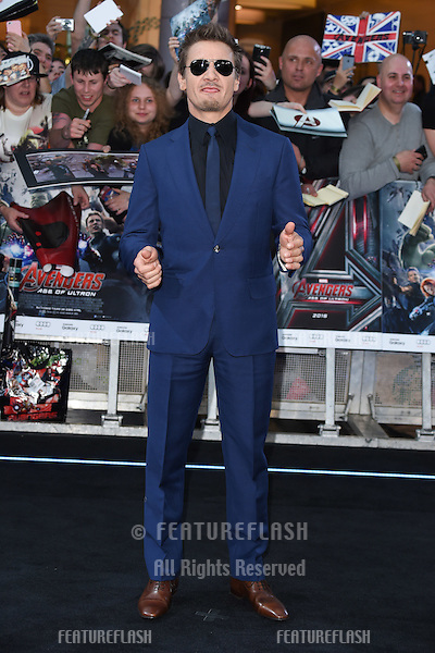 "Jeremy Renner arrives for the ""Avengers: Age of Ultron"" European premiere at the Vue cinema, Westfield London. 21/04/2015 Picture by: Steve Vas / Featureflash"