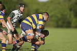 J. Maka is taken to ground by P. Epati. Counties Manukau Premier Club Rugby, Patumahoe vs Manurewa played at Patumahoe on Saturday 6th May 2006. Patumahoe won 20 - 5.
