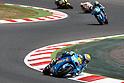 July 4, 2010 - Catalunya, Spain - Alvaro Bautista powers his bike during the Catalunya Grand Prix on July 4, 2010. (Photo Andrew Northcott/Nippon News)