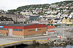 Port and town of Harstad, Hinnoya island, Troms county, Norway