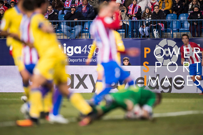 La Liga signboards are pictured during their Copa del Rey 2016-17 Round of 16 match between Atletico de Madrid and UD Las Palmas at the Vicente Calderón Stadium on 10 January 2017 in Madrid, Spain. Photo by Diego Gonzalez Souto / Power Sport Images
